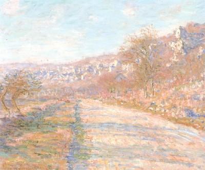 クロード・モネ《ラ・ロシュ=ギュイヨンの道》