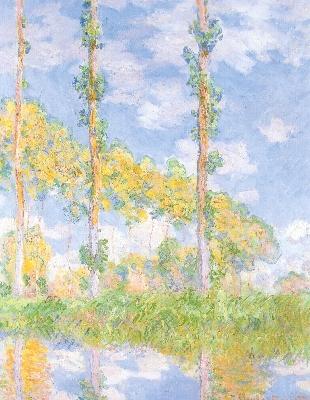クロード・モネ《陽を浴びるポプラ並木》
