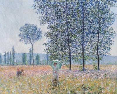 《ポプラ並木の下で、晴天》(州立美術館蔵、シュトゥットガルト)