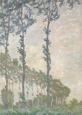 《エプト川のポプラ並木、風の日》(オルセー美術館蔵)