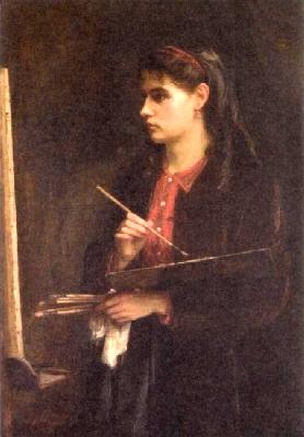 エドマ・モリゾ《描くベルト・モリゾの肖像》