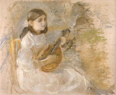 《マンドリンを弾く少女