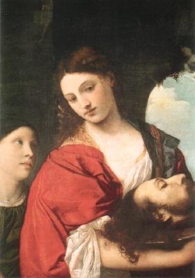 ティツィアーノ・ヴェチェリオ《洗礼者聖ヨハネの首をもつサロメ》