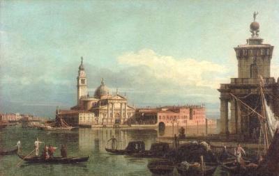 カナレット《サン・ジョルジョ・マッジョーレ島と税関》