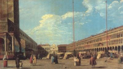 ベルナルド・ベロット《サン・マルコ広場》