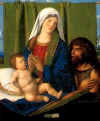 ジョヴァンニ・ベッリーニと工房(ニコロ・ロンディネッリ?)《聖母子と洗礼者聖ヨハネ》