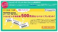 ショッピングパレットで500円もらっちゃいました。