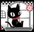 満月と黒猫さんの画像
